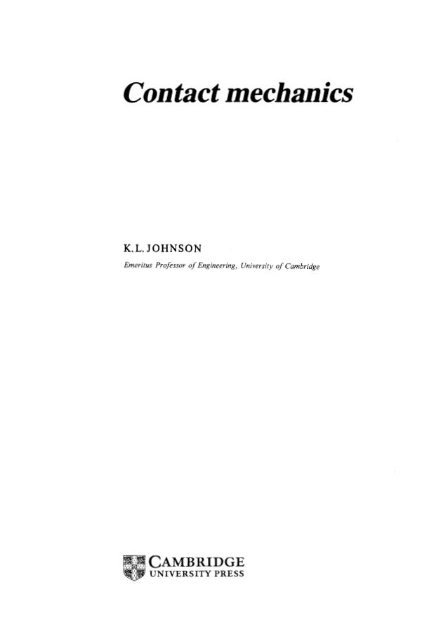 CONTACT MECHANICS JOHNSON EBOOK