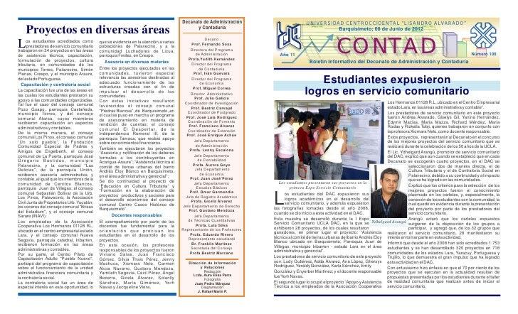 """Decanato de Administración                         UNIVERSIDAD CENTROCCIDENTAL """"LISANDRO ALVARADO""""    Proyectos en diversa..."""