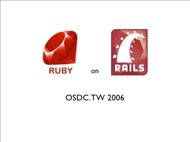 RUBY   on     OSDC.TW 2006