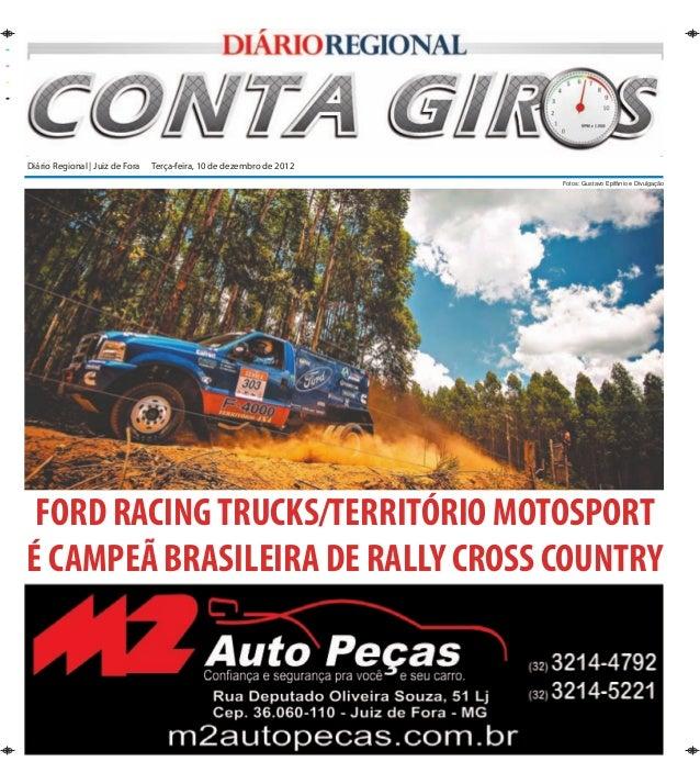 Diário Regional | Juiz de Fora Terça-feira, 10 de dezembro de 2012                                                       ...