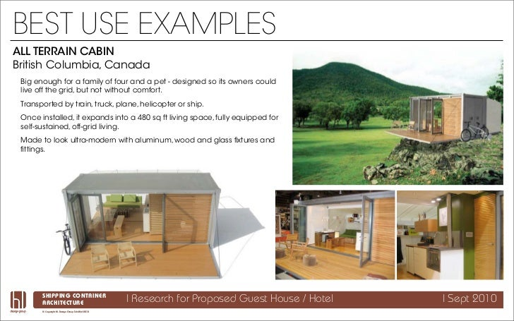 Shipping Container Architecture Research - All terrain cabin shipping container homes