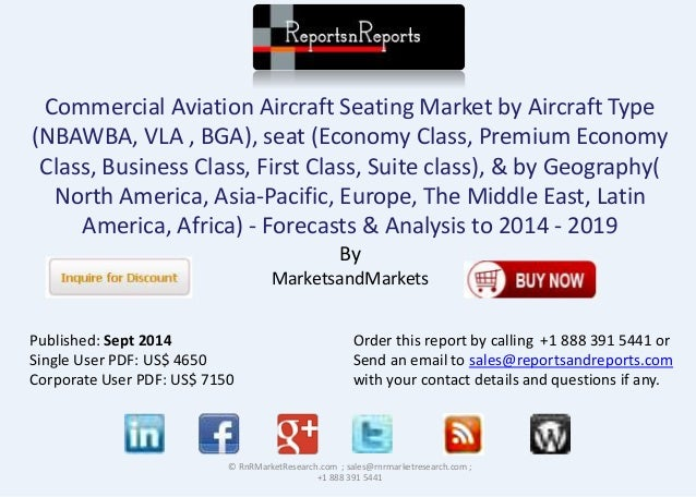Commercial Aviation Aircraft Seating Market by Aircraft Type  (NBAWBA, VLA , BGA), seat (Economy Class, Premium Economy  C...