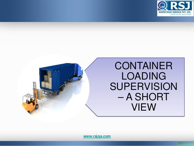 Container loading inspection Slide 2