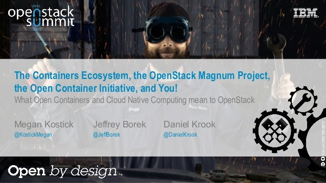 The Containers Ecosystem, the OpenStack Magnum Project, the Open Container Initiative, and You! What Open Containers and C...
