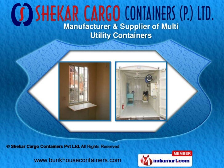 Manufacturer & Supplier of Multi      Utility Containers