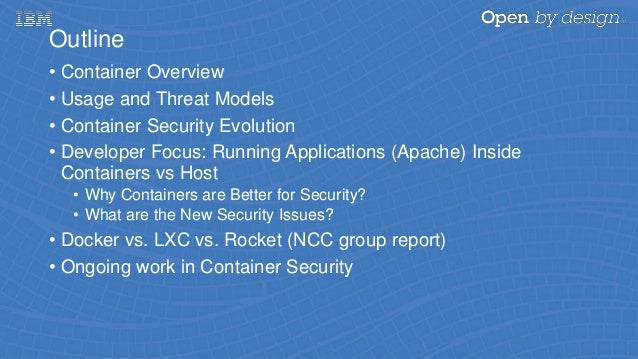 A Survey of Container Security in 2016: A Security Update on Container Platforms Slide 3