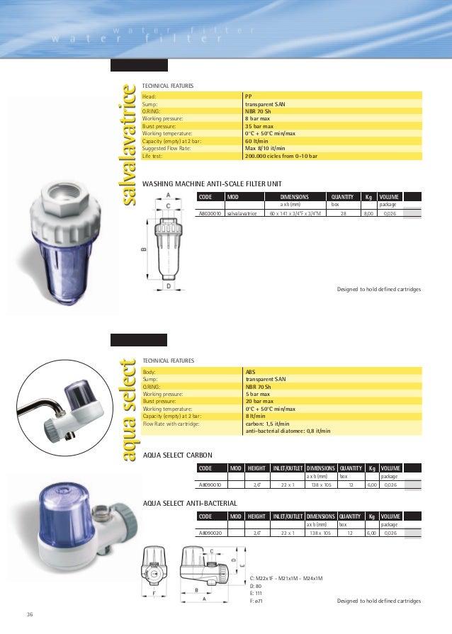Containers for cartridges pdf document aqua middle east fzc for Salvalavatrice