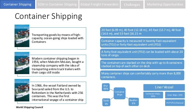 Container shipping industry