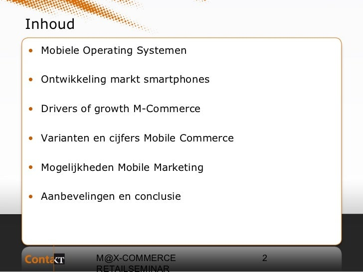 Contakt consulting, m commerce, jeroen bos Slide 2