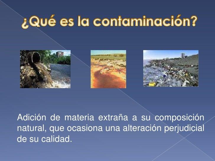 Presentación Sobre la Contaminación del Agua Slide 2