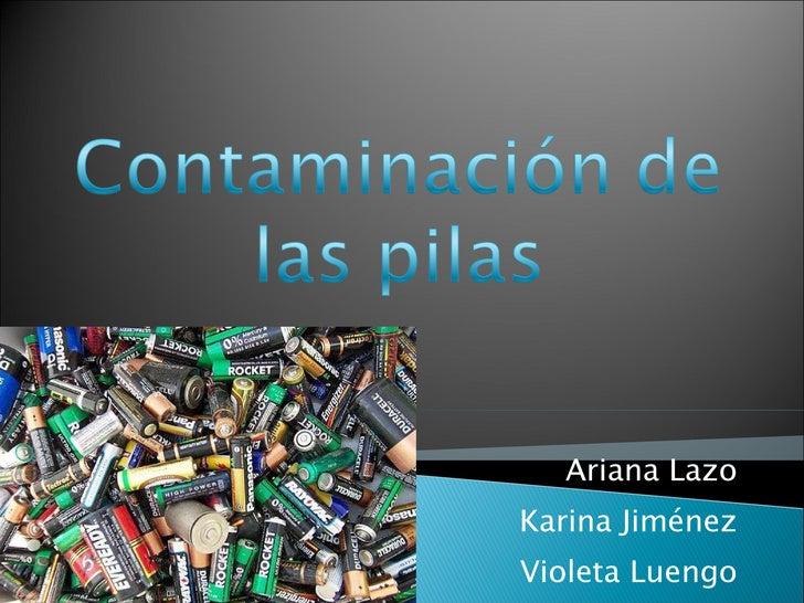 Contaminación De Las Pilas
