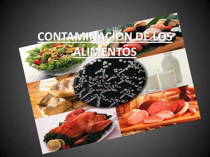 Contaminaci n de los alimentos - Fuentes de contaminacion de los alimentos ...