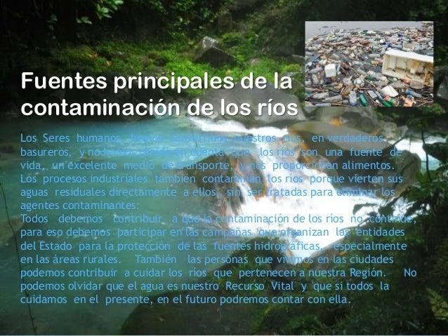 Contaminaci n de los r os - Fuentes de contaminacion de los alimentos ...