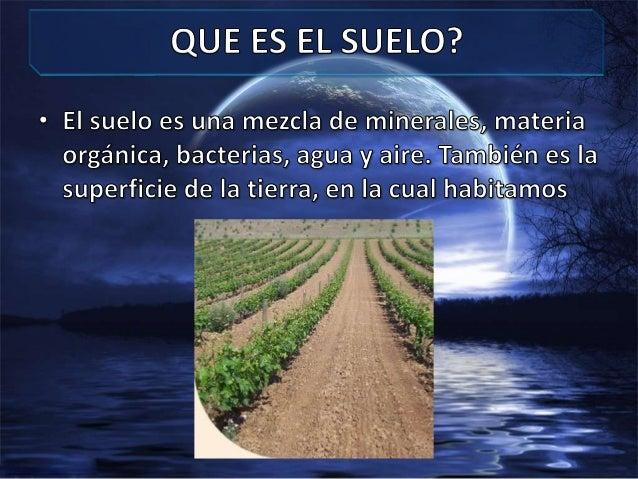 CONTAMINACIÓN DEL SUELO - DIAPOSITIVAS