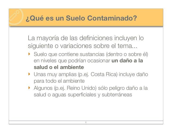 Contaminaci n de suelos for Como esta constituido el suelo