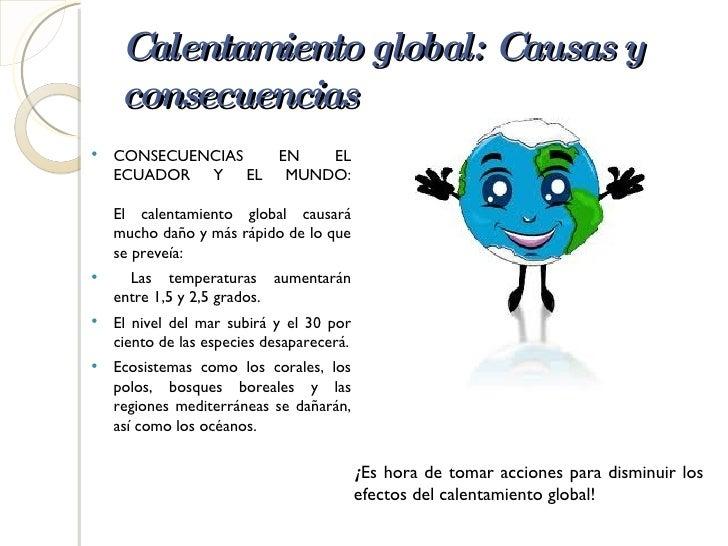 Contaminación y calentamiento global