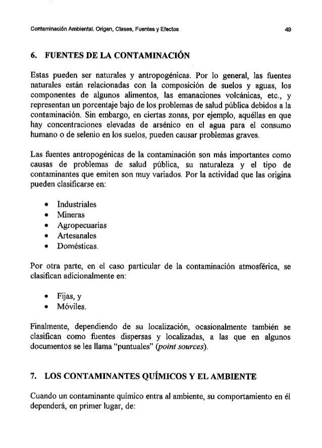 Contaminacion ambiental - Fuentes de contaminacion de los alimentos ...