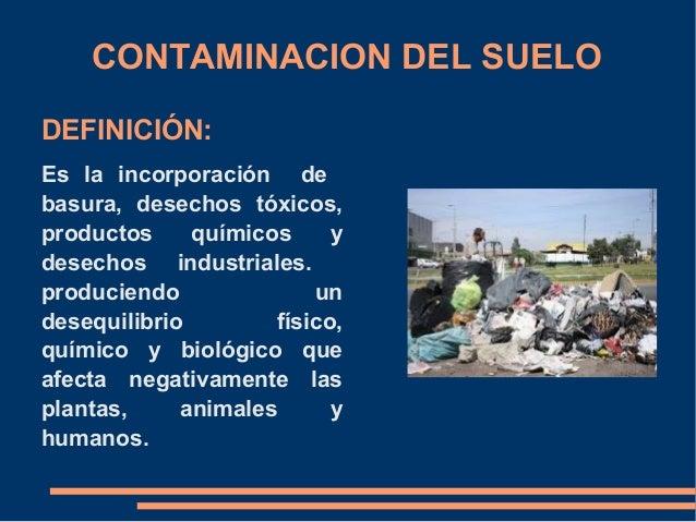 Contaminaci n ambiental tics for Significado de suelo