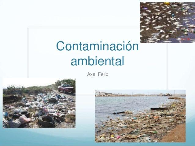 Contaminación ambiental Axel Felix