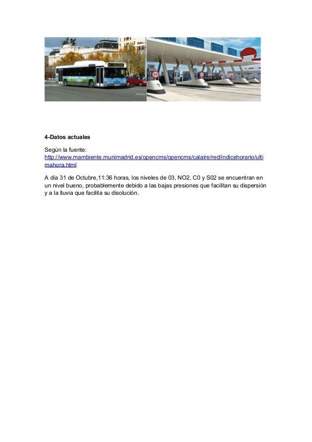 4-Datos actuales Según la fuente: http://www.mambiente.munimadrid.es/opencms/opencms/calaire/red/indicehorario/ulti mahora...