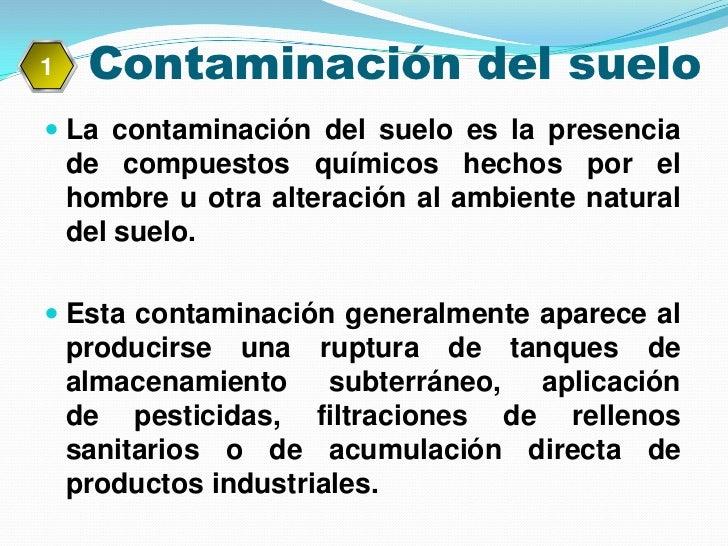 Contaminacion de agua y suelo for Informacion sobre el suelo