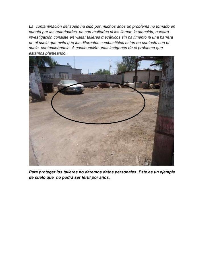 Contaminacion del suelo por aceites for Como se creo el suelo