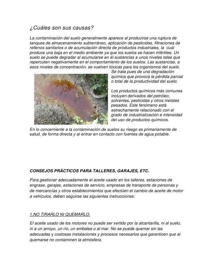 Contaminacion del suelo por aceites - Como sacar aceite del piso ...