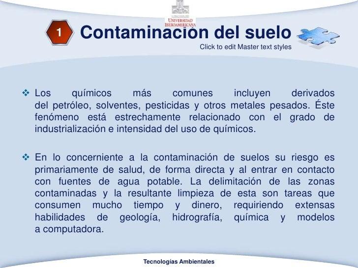 Contaminacion del suelo y agua for Componentes quimicos del suelo