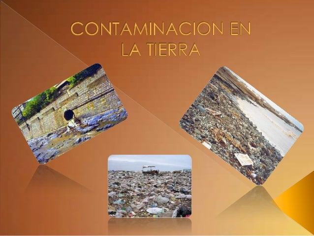 Contaminacion En La Tierra