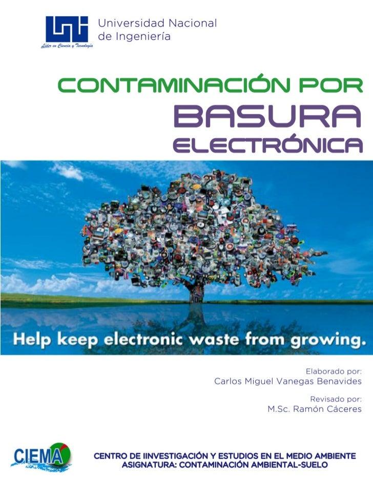Contaminación del suelo por basura electrónica