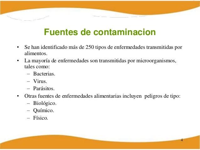 Contaminacion quimica de los alimentos - Fuentes de contaminacion de los alimentos ...