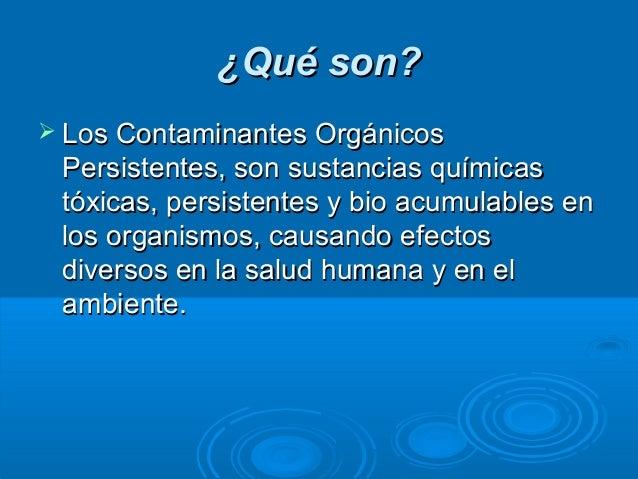 Q Son Los Lemures Contaminantes organico...