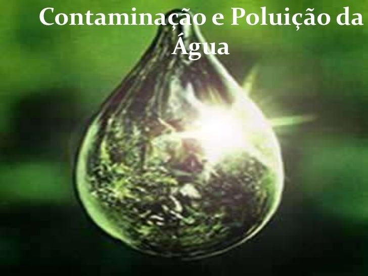 Contaminação e Poluição da Água<br />