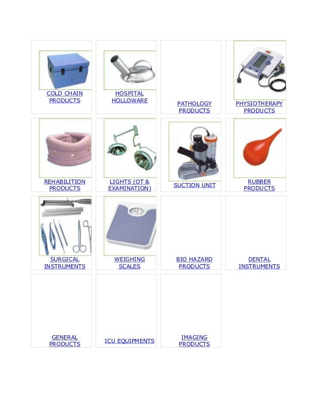 Contant for slideExporters Medical Equipment, Hospital