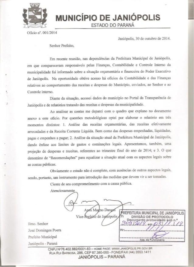 Contas anuais 2014 parcial com protocolo