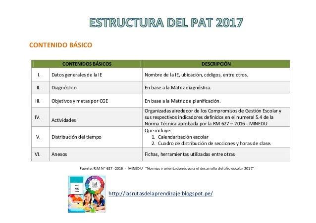 CONTENIDO BÁSICO http://lasrutasdelaprendizaje.blogspot.pe/ CONTENIDOS BÁSICOS DESCRIPCIÓN I. Datos generales de la IE Nom...