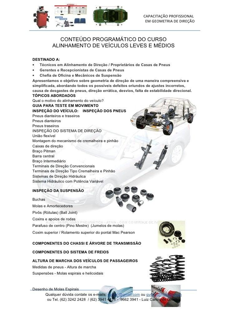 CAPACITAÇÃO PROFISSIONAL                                                                EM GEOMETRIA DE DIREÇÃO           ...