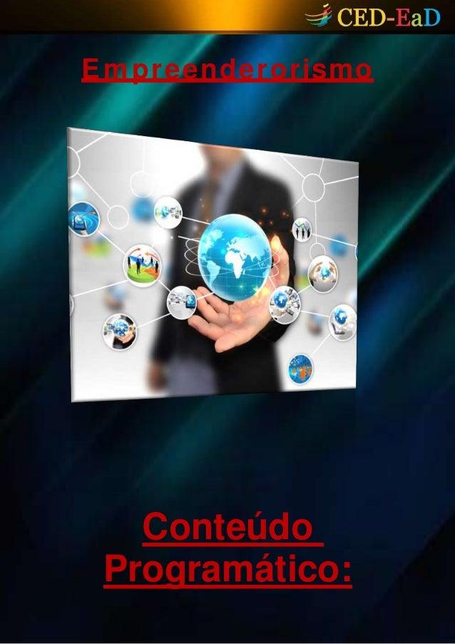 Empreenderorismo Conteúdo Programático: