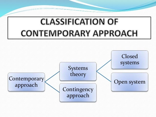 contemporary approach in management