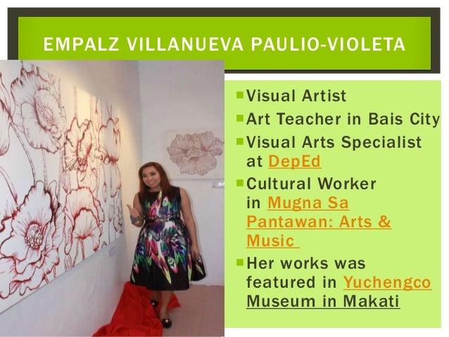 Visual Artist Art Teacher in Bais City Visual Arts Specialist at DepEd Cultural Worker in Mugna Sa Pantawan: Arts & Mu...