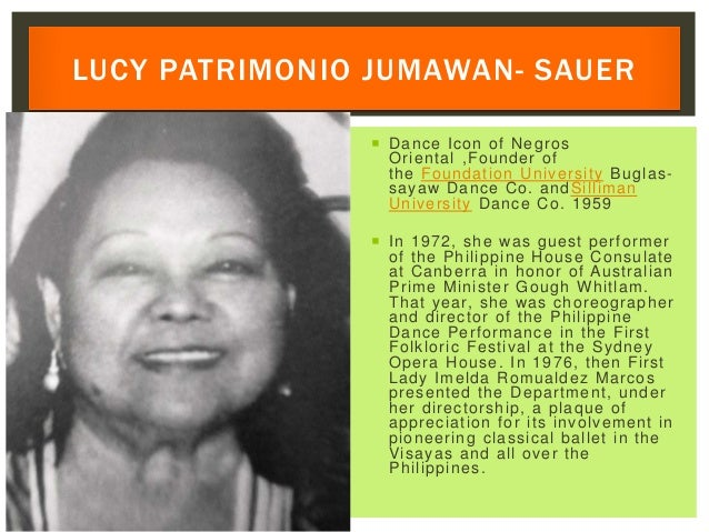  Dance Icon of Negros Oriental ,Founder of the Foundation University Buglas- sayaw Dance Co. andSilliman University Dance...