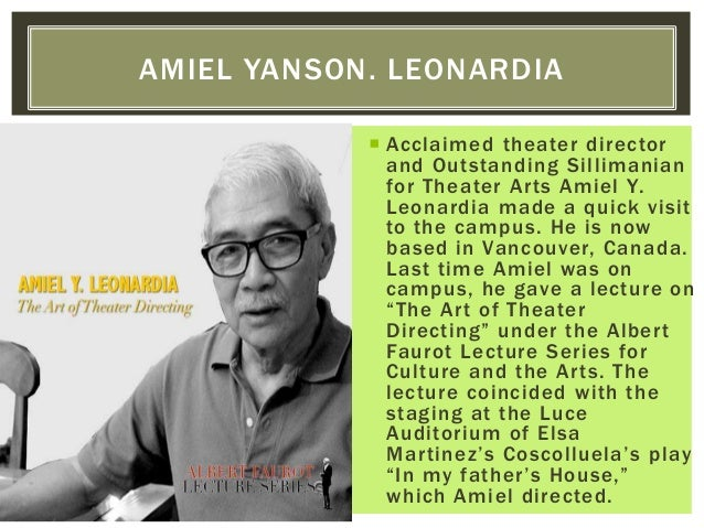  Acclaimed theater director and Outstanding Sillimanian for Theater Arts Amiel Y. Leonardia made a quick visit to the cam...