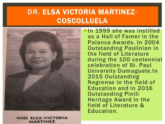 In 1999 she was instilled as a Hall of Famer in the Palanca Awards. In 2004 Outstanding Paulinian in the field of Literat...
