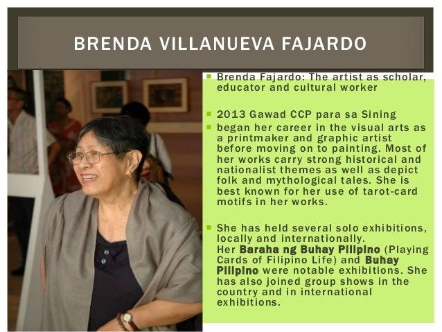  Brenda Fajardo: The artist as scholar, educator and cultural worker  2013 Gawad CCP para sa Sining  began her career i...