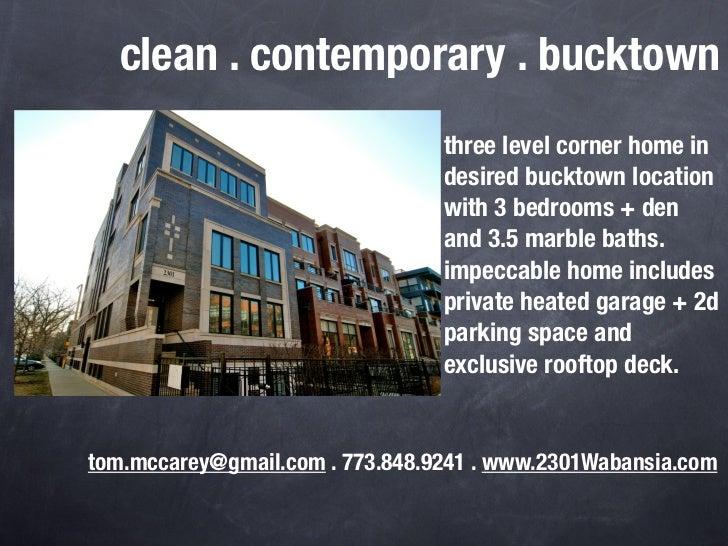clean . contemporary . bucktown                                 three level corner home in                                ...