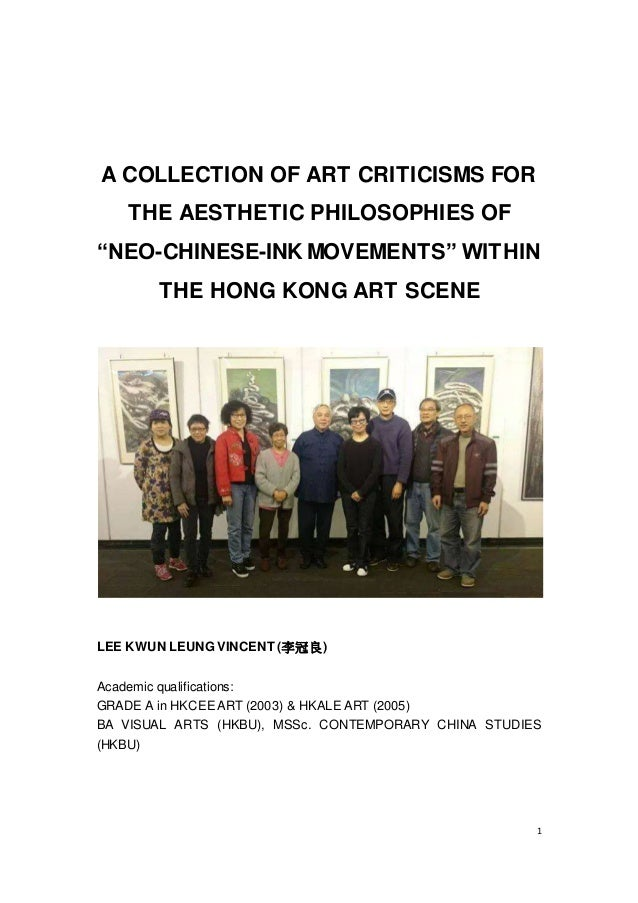 A collection of art criticisms for the aesthetic philosophies of Neo-…