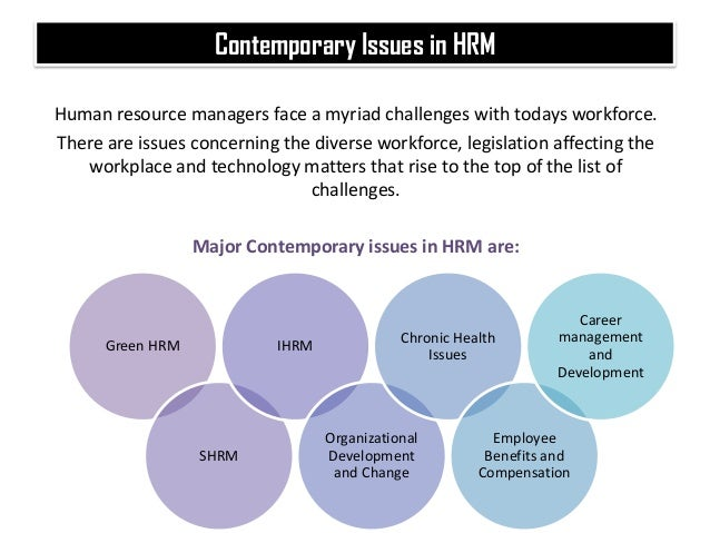cultural issues of human resource management Key issues in strategic human resources abstract [excerpt] this chapter, on strategic human resource management (shrm), is really not for the hospitality.
