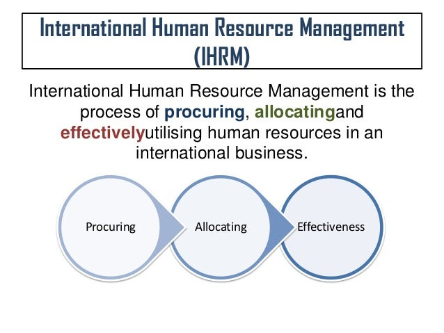 Concerns global company human resources