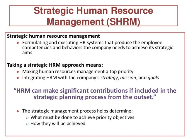 contemporary issues in hrmstrategic human resource