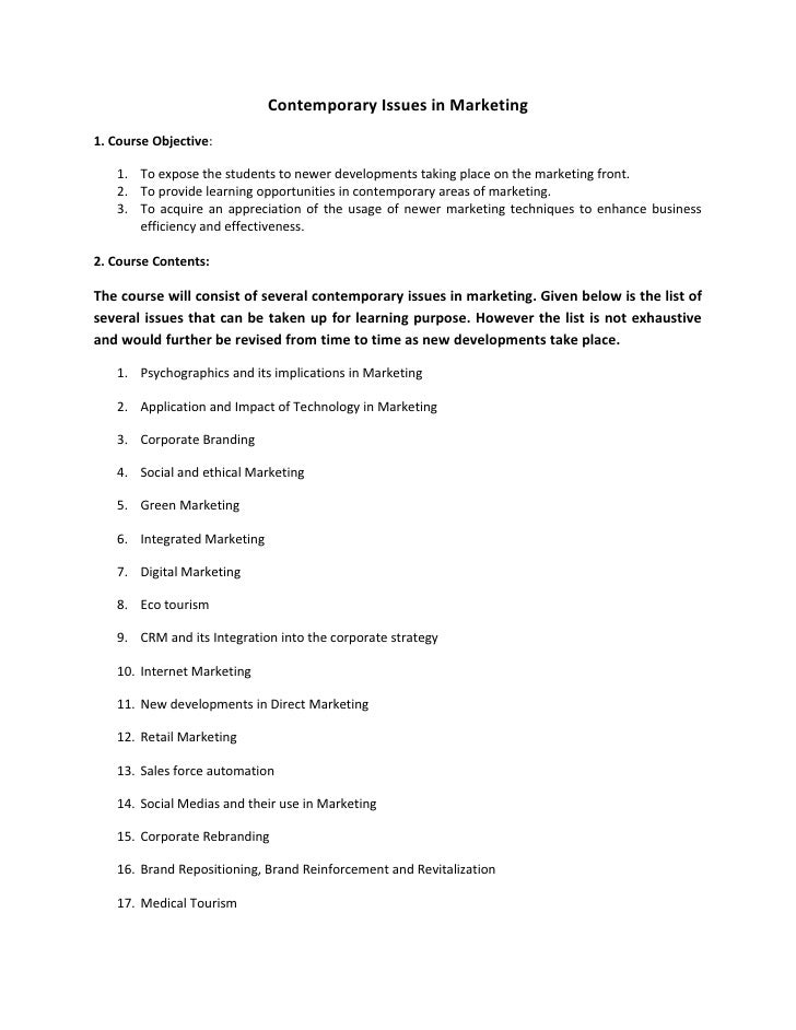 contemporary issues in marketing management 22082012 current issues in hospitality and tourism: research and innovations is  management (practical issues  in hospitality and tourism: research and.